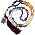 Gemstone and Sacred Holy Wood Prayer Mala Beads